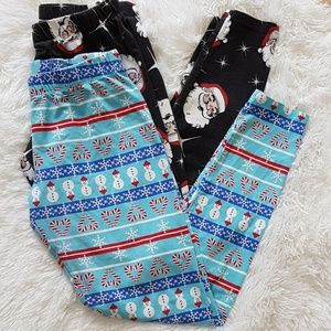 Women Christmas print leggings